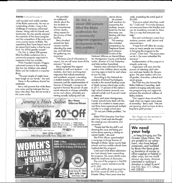 Teen news article from much