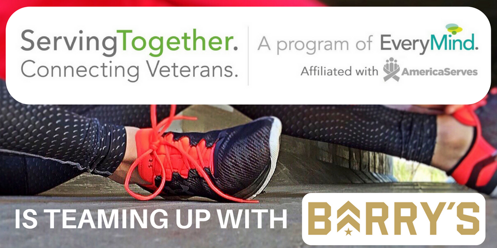Serving Together is teaming up with Barry's